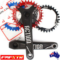 AU 30-42T Narrow Wide Round Oval Chainring MTB Bike 170mm 104bcd Crank Sprocket