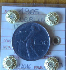 REPUBBLICA ITALIANA 50 LIRE 1965  SIGILLATA SPL+ numismatica SUBALPINA