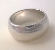 G-Filled Men's 18ct white gold wedding band 9mm ring domed USA size 9 AUS S new
