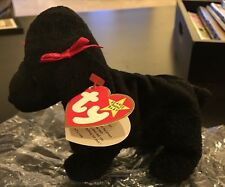 Ty Beanie Baby Gigi The Black Poodle Dog With Tag DATE Error ST 1997 PT 1998
