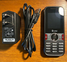 Huawei U2800A - AT&T Cellular Phone Black Excellent Condition