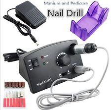 UK Plug Pro 30000RPM Electric Nail Drill Machine File Bits Pedicure Manicure