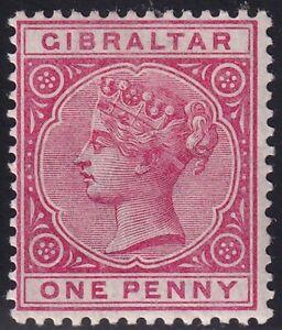 UK STAMP Gibraltar  1886 -1898 Queen Victoria, 1819-1901 1P MH/OG