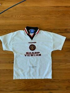 Vintage Manchester United Away Football Shirt 1996 - 1997 size XL