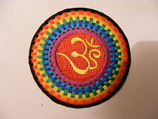 embroidered iron-sew-on Om Hindu applique motif patches for on clothes jackets