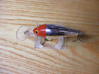 Beautiful Vintage Bagley DB3 Long Cast FRHS Red Head Silver Chrome Fishing Lure