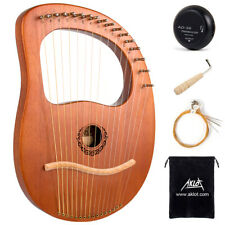 Lyre Harp 16 Strings Solid Mahogany Wooden Classical Musical Instrument for Gift