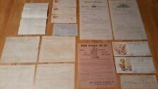 Lot Of 15 Ephemera Paper Collectables 1855-1904