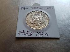 1/2 Half Dollars United States 1972 coin, San Francisco Mint, BU Kennedy half
