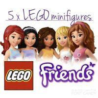 LEGO Friends 5 x Mixed Minifigure Bundle Set - Complete Figures / Accessories