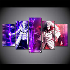 Anime Abstract print canvas decoration 5 pieces Naruto Madara vs Sage of the Six
