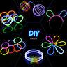100 PCS Glow Sticks Bracelets Necklaces Fluorescent Neon Party Wedding Magic New