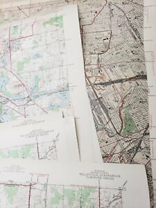 Lot of 25 1940's Michigan Maps Highway Dept War Dept