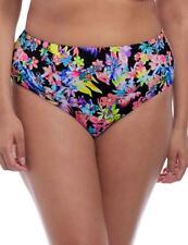 Elomi Electroflower Bikini Brief Bottoms 7174 Womens Swimwear Black Print