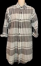 Current Elliott Shirt Dress Black And White And Gray Striped Long Sleeve Size 0