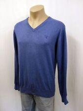 Unifarbene Herren-Pullover & -Strickware aus Baumwolle mit L