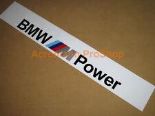 """53"""" BMW M logo Power Windshield Sunstrip Sunvisor Banner Decal Sticker M3 M4 M6"""