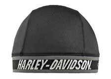 Harley-Davidson® Men's Signature Script Skull Cap Black Gray Beanie Hat SK51690