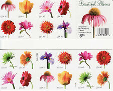 BEAUTIFUL BLOOMS STAMP BOOKLET -- USA #4176-#4185 41 CENT 2007 20 STAMPS FLOWERS