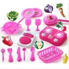 Deluxe Children Kitchen Cooking Pretend Play Set Utensils Accessories Kids Toys