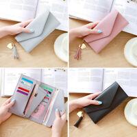 Women Faux Leather Clutch Wallet Long Card Holder Purse Handbag Billfold Bag