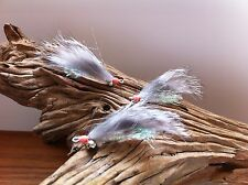 New listing Gotcha Bonefish Bunny Fly Chinchilla 3 Flies #2,4 Mustad 34007 stainless steel