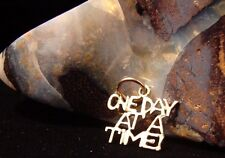 Sterling Silver Alcoholics Anonymous AA Saying One Day at a Time Pendant 145 NA
