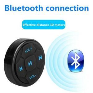 Car Steering Wheel Wireless Bluetooth-compatible Remote Control Media Button