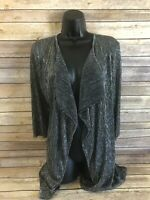 Christopher & Banks 3/4 Sleeve Duster Cardigan Size Petite XL Womens Gray New