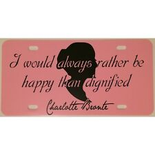 License Plate Jane Eyre Bronte Quote Car Tag