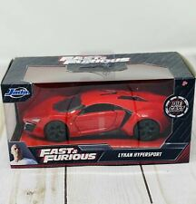 JADA Fast and Furious Lykan Hypersport Red Die Cast Hard To Find- NEW RELEASE