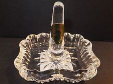 WATERFORD Crystal Heritage Ring Holder Rectangle Hand Signed Philip O Keeffe