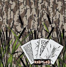 Redleg Camo DG7 - 4 Piece Camouflage stencil kit  **18x26** duck boat wall