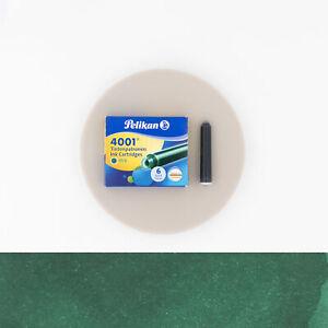 Pelikan 4001 Green 6 Cartridges