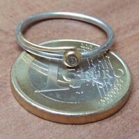 Diamant Ring 950er Platin und 750er Gold - Platin Gold Ring mit Diamant