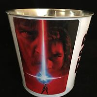 Star Wars The Last Jedi Movie Theater Cinema Exclusive Popcorn Tub Lightsaber