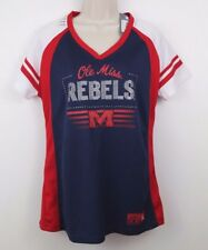 Ole Miss Rebels Women's V-Neck Jersey Shirt Knights Apparel Size Large (12-14)