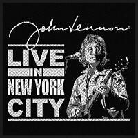 JOHN LENNON PATCH AUFNÄHER # 2 LIVE IN NEW YORK CITY 10x10cm FLICKEN ABZEICHEN