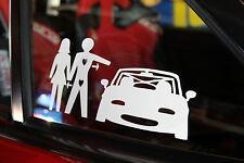 Miata Love Triangle Sticker Decal JDM Mazda Miata MX-5 Eunos Roadster