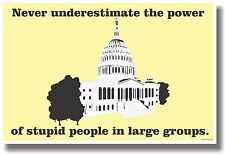 Don't Underestimate The Power Of Stupid People - NEW Humor Poster