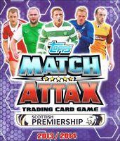 Match Attax SPL Scottish Premiership 2013/2014 13/14: Full Team Sets of 18 cards