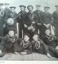 RARE 1899 Antique Arny Navy Bachelors GLEE CLUB Calendar Smoking PIPES Banjo