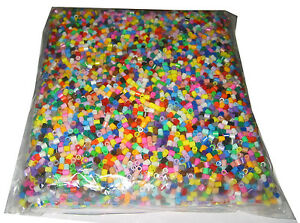 New 500g Bag of Assorted HAMA / PYSSLA / PEARLER for Bead Crafts