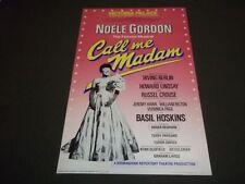 1983 CALL ME MADAM VICTORIA PALACE THEATER POSTER NOELE GORDON - P 200