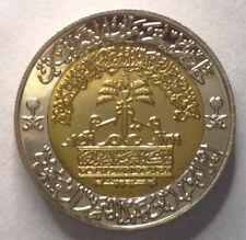 UNC SAUDI 1 RIYAL 1998 CENTENNIAL OF KINGDOM BI-METALLIC COMMEMRATIVE KING FAHD