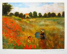 CLAUDE MONET POPPIES NEAR ARGENTEUIL Estate Signed Limited Edition Small Giclee