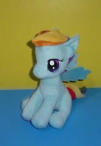 "10"" Seated Hasbro Aurora My Little Pony Rainbow Dash Plush MLP Stuffed Animal"