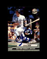 Steve Sax Hand Signed 1992 Fleer Ultra New York Yankees Autograph