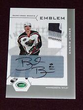 2003-04 Parkhurst BRENT BURNS Rookie RC * 2/10 * AUTO 3CLR Canada Emblem Patch