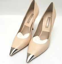 Michael Kors Silver Tip Toe Nude Pumps 38.5 Italy
